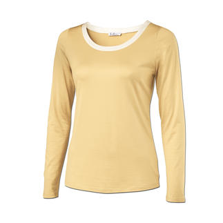 Das Edel-Basic-Shirt mit schimmerndem Lüster: Überlebt Generationen billiger Shirts. Seltener Luxus aus 95 % Seide: Schimmert edel, knittert kaum, waschbeständig, unvergleichlich weich.