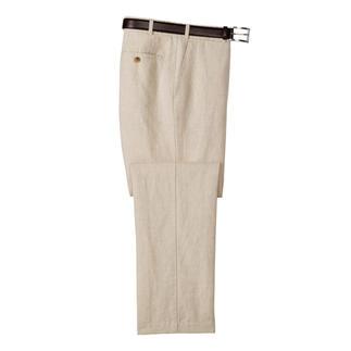 Die Business-Leinenhose von HOAL. Weich fließend, knitter- und bügelarm.