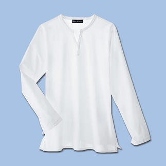 Das Beachshirt aus hauchdünnem Baumwollbatist. Ganz unkompliziert zum perfekten Look. Endlich ein schickes, bequemes Strandshirt für Herren.