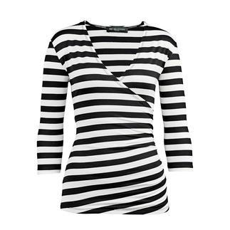 Das Zauber-Shirt: zauberhaft weich durch 95 % Viskose. Zauberhaft vielseitig durch schwarz-weiße Ringel. Und: Dieses Shirt zaubert eine gute Figur - dank Elasthan und perfektem Schnitt. Nur richtig in Schwarz/Weiß.