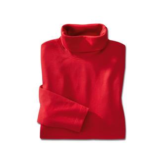 Der seltene Rolli aus echter, peruanischer Pima Cotton. Farb- und formtreu, mit edlem Glanz. Kein Vergleich zu üblicher Baumwolle. Dauerhaft schön, auch bei schonungslosem Gebrauch. Hautfreundlich.
