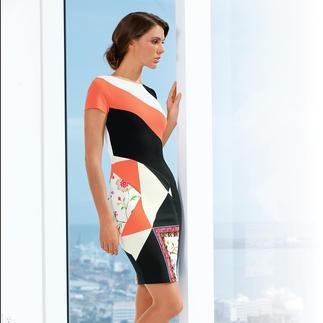 Cavalli CLASS Grafik-Kleid Bequem elastisch. Figurfreundlich kaschierend. Knitterarm. Das Designerkleid für jeden Tag. Von cavalli CLASS.
