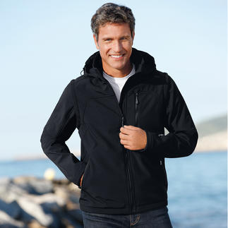Die Soft-Shell-Jacke mit WindProtect®. Schlank, leicht und trotzdem warm.