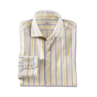Das Sommerstreifen-Hemd: 6 verschiedene Streifen passen zu jedem Ihrer Sommer-Looks. In Business und Freizeit. Luftiger Oxford-Stoff. Frische Farbtöne. Das Kombitalent von Ingram.