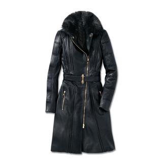 Der Lammleder-Mantel von Versace Collection: Biker-Trend de luxe. Feminin sexy. Modisch rockig. Und winterwarm.
