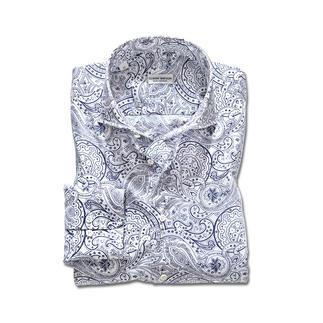 Das Paisley-Hemd im Exklusiv-Design von Claude Dufour. Als Krawattendessin ein Klassiker. Als Hemd topaktuell.