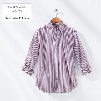 The BDO-Shirt No. 28: Luftig feines Oxfordgewebe aufwändig gestreift gewebt. Es ist großzügig gefertigt - nichts engt sie ein.