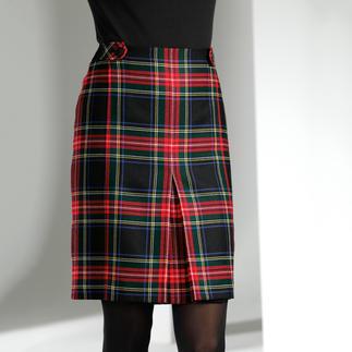 Der Karo-Rock mit original schottischem Black Stewart Tartan. Ein ewiger Klassiker - und jetzt Top-Trend. Auf dem erlesenen Schurwolltuch bleiben die Farben ewig brillant.