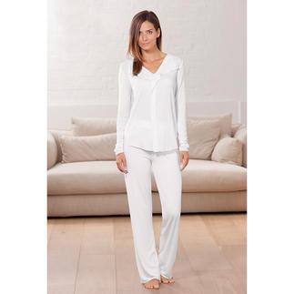 Der Pyjama aus seidenweichem, dauerhaft schönem MicroModal® - Couture-Chic für die Nacht. Eng anliegend, aber dennoch sehr bequem, dank Elasthan.