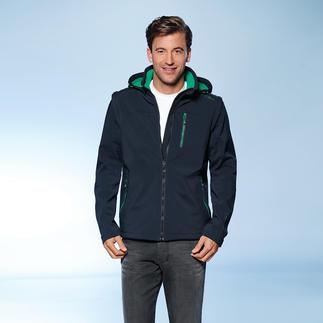 Jacke aus Soft Shell, mit WindProtect®. Schlank, leicht und trotzdem warm. Die hochfunktionelle Jacke ist schlank geschnitten,ohne einzuengen. Winddicht, Wasserabweisend. Atmungsaktiv.