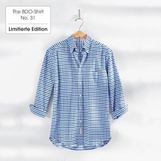 The BDO-Shirt No. 31: Luftig feines Oxfordgewebe mit frisch blauem Karo-Muster. Es ist großzügig gefertigt - nichts engt Sie ein.