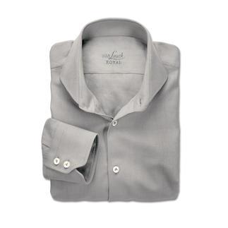 Ihr wohl luftigstes und luxuriösestes Businesshemd. 30 % Seide. Luftige Leinwandbindung. Ideal für den Sommer und die Reise.