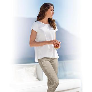 Das vielseitige Kombitalent von Deutschlands Hemden-Spezialist van Laack, seit 1881. Eleganter und femininer als ein Shirt. Lässiger und zwangloser als eine Bluse.