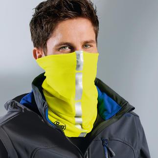 Das original Buff® Schlauchtuch mit Reflektor-Streifen macht Sie besser sichtbar in der Dunkelheit. Lässt sich als Schal, Mütze, Stirnband, Sturmhaube,... variieren und ist der  perfekte Wind- und Kälteschutz.