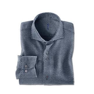 Das jacquardgewebte Flanell-Hemd aus Jaspé-Garn - warm und bequem wie Ihr Lieblingspullover. Von den Hemden-Spezialisten Dufour.