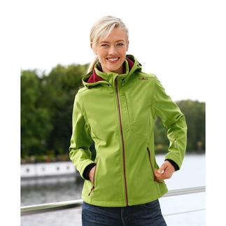 Die Softshell-Jacke mit WindProtect®. Schlank, leicht und trotzdem warm.