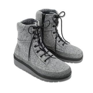 Der wetterfeste Outdoor-Schuh aus natürlich wärmendem Wollfilz. Trotzt Schnee, Matsch, Pfützen. Und wiegt nur 390 g.