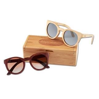 Leichter. Robuster. Interessanter. Die Bambus-Brille von Topheads toppt die angesagten Holz-Shades.