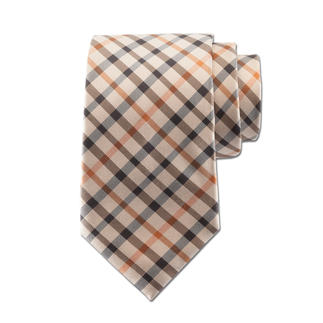 """Die Seiden-Krawatte mit dem original """"House Check"""" von DAKS, London. Karo-Muster gibt es viele. Dieses stammt vom Hoflieferanten der Royals."""