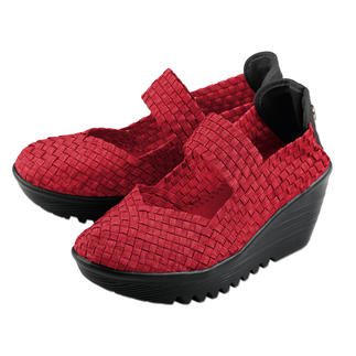 "Der Fashion-Hit aus den USA: Flecht-Wedges vom ""King of woven Footwear"", Bernie Mev. New York. Der Fashion-Hit aus den USA: Flecht-Wedges vom ""King of woven Footwear"", Bernie Mev. New York."
