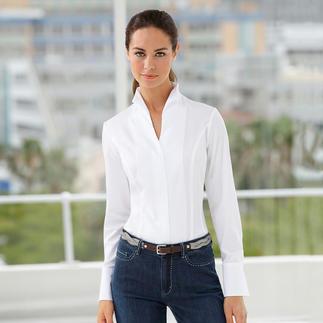 Die elegante Kelchkragen-Bluse: Ein echter Klassiker - und doch so schwer zu finden. Perfekt kombinierbar mit allen Jackenformen. Von Deutschlands Blusen-Spezialist van Laack.