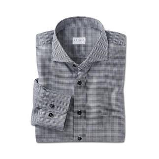 Das klassisch-elegante Glencheck-Hemd, das sich vielseitig kombinieren lässt. Exzellente Vollzwirn-Qualität aus reiner Baumwolle.