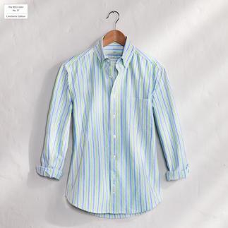 Das gestreifte BDO-Shirt No. 37 aus luftig feinem Oxfordgewebe. Es ist großzügig gefertigt - nichts engt sie ein.