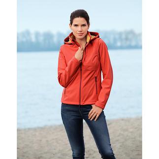 Die Jacke aus Softshell, mit WindProtect®. Schlank, leicht und trotzdem warm.