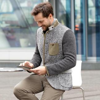 Der mode-Klasiker Janker, modernisiert von Luis Trenker. Schlanker Schnitt. Softe Stoffe im aktuellen Material-Mix.