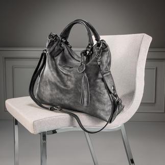 Die modische Shopper Bag zu einem sehr angenehmen Preis. Edel und knautschweich wie Leder.