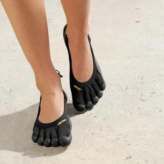 Die original FiveFingers® von Vibram®: ultraleicht und herrlich flexibel. So gesund und entspannend wie Barfußlaufen, aber ohne Verletzungen und schmutzige Füße.