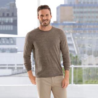 Der Ganzjahres-Basic-Pullover aus Baby-Alpaka und Seide. Federleicht und doch strapazierfähig.