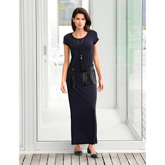 Das selten elegante Jersey-Kleid. Seidiger Tencel-Jersey. Aktuelle Maxi-Silhouette.