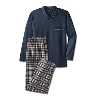 Der Lieblings-Pyjama zum kleinen Preis. Made in Germany von einem leistungsfähigen Spezialisten aus Sachsen. Reine Baumwolle, sauber verarbeitet.