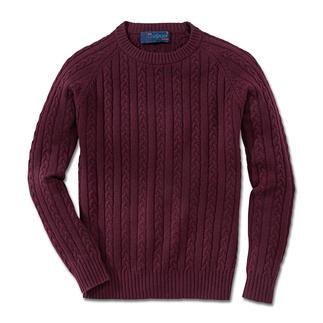 Der nach alter Tradition auf Handstrickapparaten gefertigte Zopf-Pullover. Irische Strickkunst von Carbery aus Clonakilty. Exklusiv bei Fashion Classics.