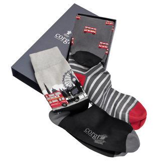 Die erfreuliche Ausnahme unter den Socken-Geschenken: Von Corgi. Brit-Chic vom Hoflieferanten des Prince of Wales.