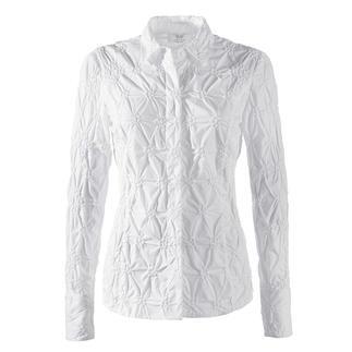 Die klassische weiße Bluse aus edlem Batist, allover bestickt. Bitte niemals bügeln.