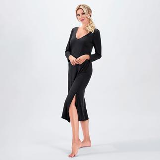 Das wohl eleganteste Nachtkleid in Ihrem Schrank. Fließender, hochelastischer Stoff. Modische Maxi-Länge. Verführerischer Rückenausschnitt.