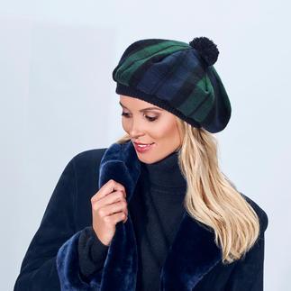 Die Schottenmütze, das Original von Lochcarron. Traditionsreiches Black-Watch-Modern-Tartan. Reine Lammwolle. Made in Scotland.