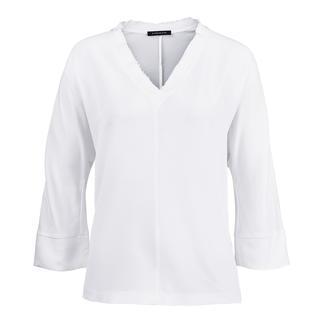 """Die Seiden-Shirt-Bluse von Strenesse: Sportiver Schnitt. Elegantes Material Die perfekte Bluse zum Thema """"Sporty-Elegance""""."""