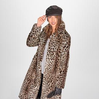 Der Gepard-Mantel vom koreanischen Toplabel für bestes Fake Fur – molliolli ECO-FUR. Wintermantel-Favorit 2020/2021.