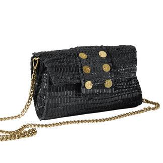 Die High-Fashion-Bag vom Newcomer-Label Kooreloo. Jede Tasche ein Unikat. Nach griechischer Tradition aus Leder & Baumwolle von Hand gewebt.