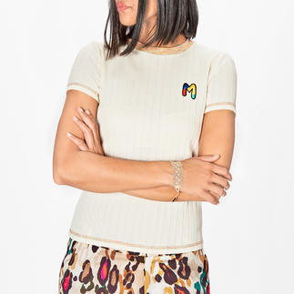 Das Basic-Shirt von M Missoni: vielseitig und unkompliziert, trotzdem unverkennbar. Feinster Rippstrick. Frische Farbakzente. Handgesticktes Logo.