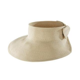 Das flexible Sonnenschild aus feiner Papierborte. Von Loevenich, Huthandwerk seit 1960. Großer Sonnenschutz – handlich klein verstaut.