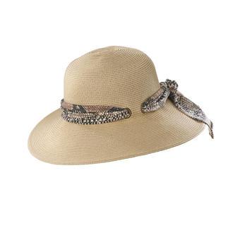 Der Borten-Hut mit Wechsel-Zierband: Two in one. Trendy mit Snake-Print. Klassisch in Natur. Individuell mit Ihrem eigenen Schal.