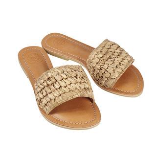 Die handgefertigten Flecht-Pantoletten von Bali-BAli®: Fashion goes Fair Trade. Traditionelles balinesisches Kunsthandwerk.