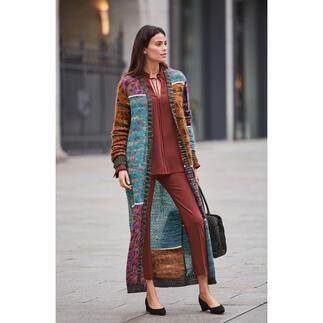 Der Mohair-Maxi-Strickmantel vom Couture-Stricklabel M Missoni. Ein Fashion-Kunstwerk par excellence.
