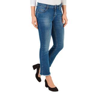 Die Bottom up-Jeans mit dem bewährten Liu Jo Knack-Po-Effekt. Erstmals aus ökologisch nachhaltigem Denim.