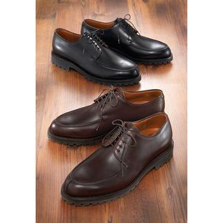 Der winterfeste Gentleman-Schuh aus Rindleder. Langlebig rahmengenäht, mit rutschfester M+S-Sohle. Robust und trotzdem elegant. Den ganzen Tag bequem. Und auf Jahre unverwüstlich.