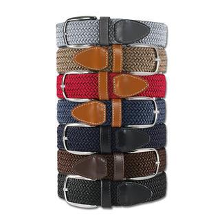 Der genial bequeme Gürtel: Stufenlos verstellbar. Und elastisch. Die vielen verschiedenen Farben setzen frische Akzente – in Businessgarderobe oder Freizeitlook.